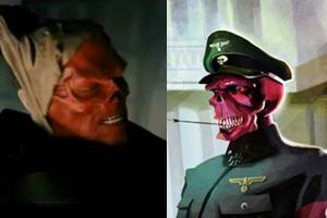 Hugo Weaving as red skull vs comic book red skull